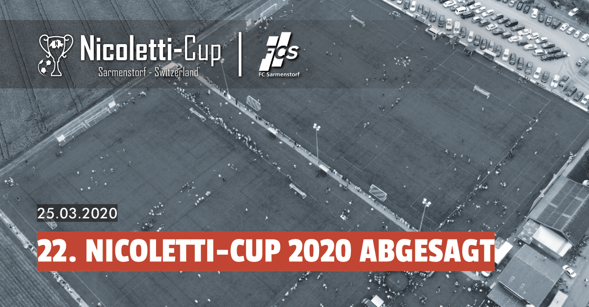 Absage 22. Nicoletti-Cup 2020